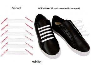 Zazračné tkaničky - bílá