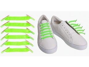Zazračné tkaničky -neonová zelená