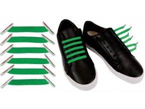 Zazračné tkaničky -zelená