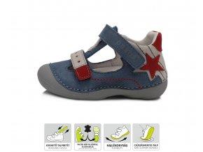 D.D. STEP sandálky 015-203 MODRA