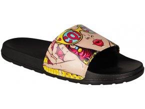 Pantofle Coqui Black/wow