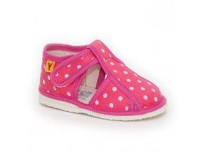 detska obuv papuce ruzova bodka 319