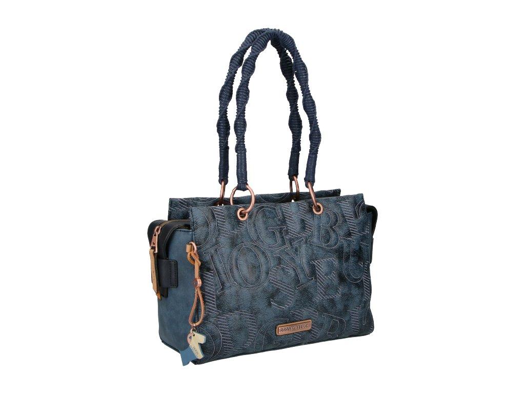DOGSBYBELUCHI modrá kabelka na rameno Begur