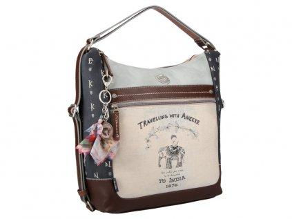 Anekke 2v1 kabelka s batohem z kolekce India