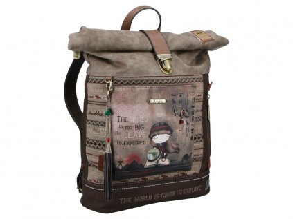 Anekke Egypt vintage batoh s přezkou v motivu Exploradora