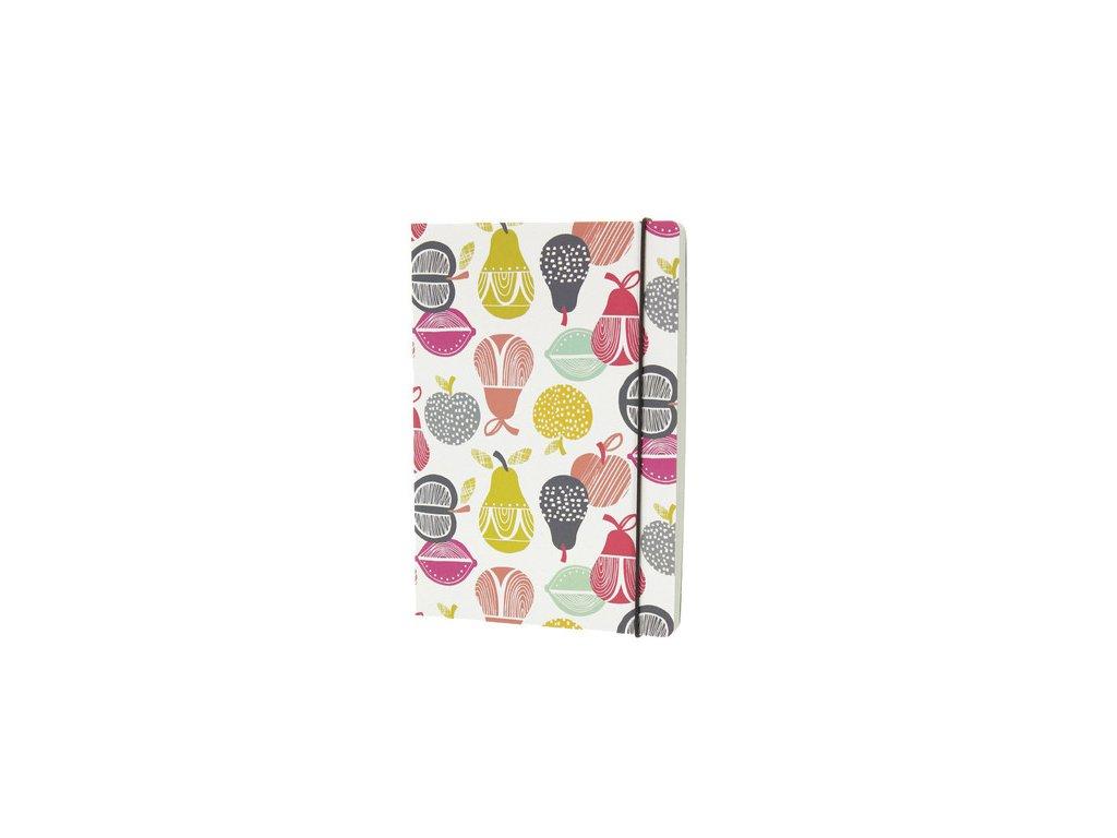 Designový retro zápisník A5 s motivem ovoce