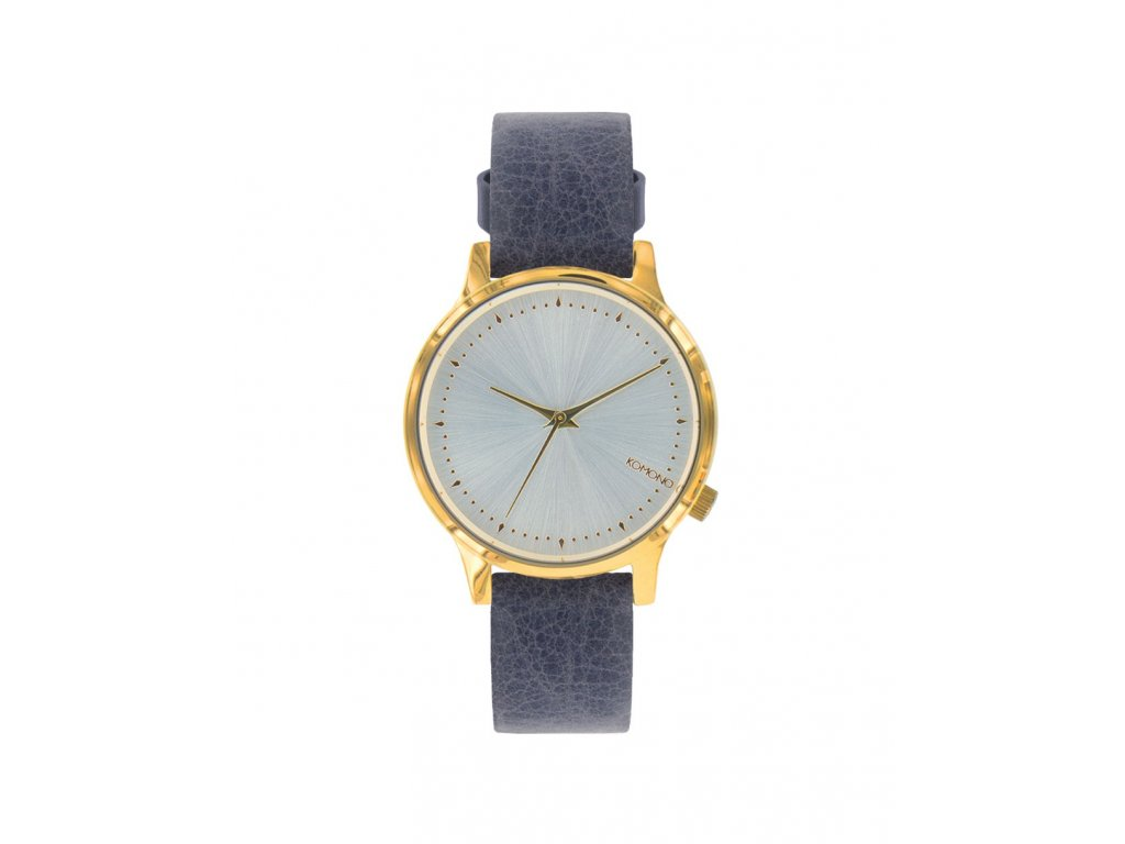 Dámské hodinky s modrým páskem Komono Estelle Corn Flower