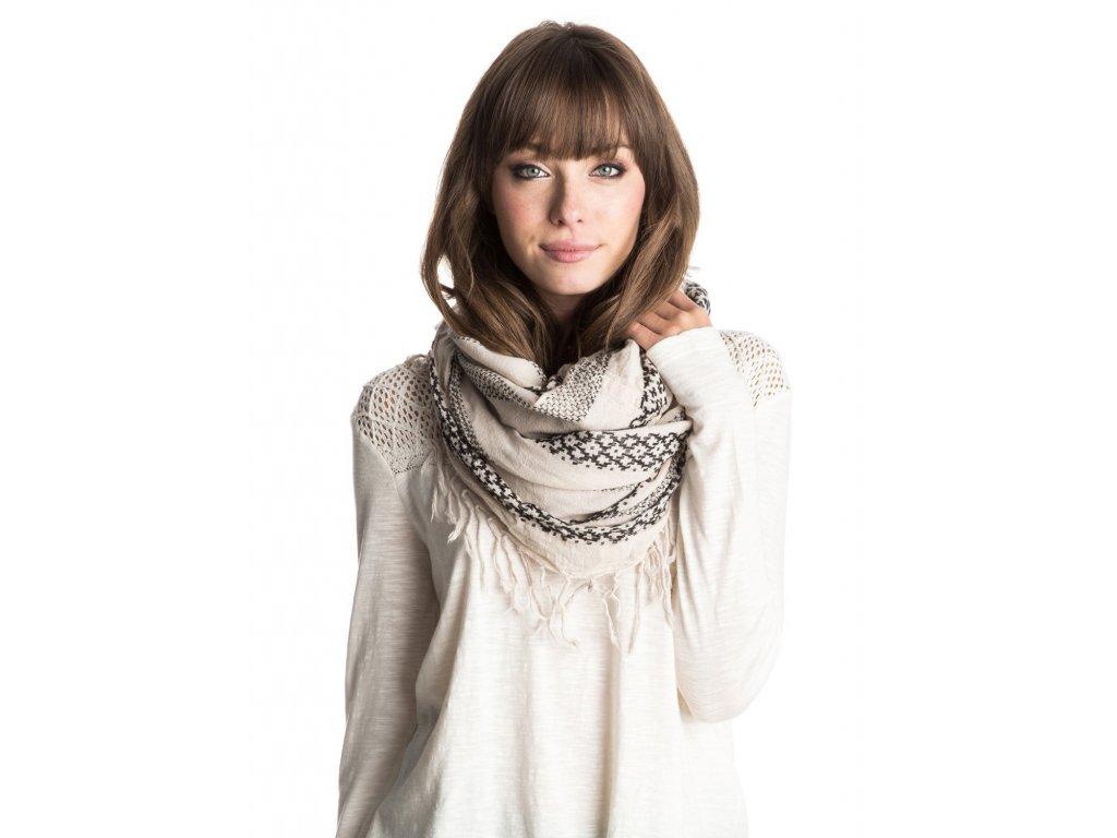 Dámský kruhový šátek Jena Roxy - Krémový