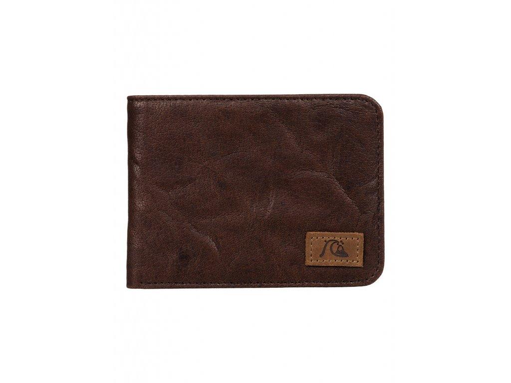 Pánská kožená peněženka Round Up Quiksilver - Hnědá