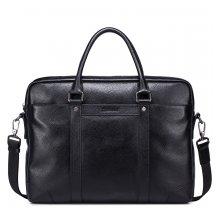 "Pánská kožená business taška na notebook Sammons Max černá 14"""