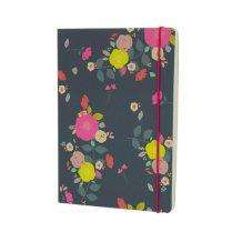 Krásný zápisník A5 s květinkovým potiskem