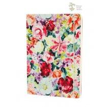 Barevný zápisník s motivem květin A5