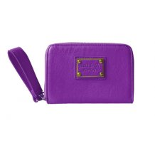 Malá dámská peněženka s poutkem Anna Smith fialová