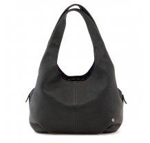 Módní kožená kabelka přes rameno Yoshi černá