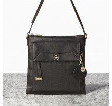 Malá černá kabelka crossbody NICA - Isabella Collection