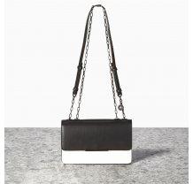 Malá černo krémová kabelka crossbody NICA - City Collection
