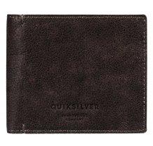 Pánská kožená peněženka Quiksilver Mack Plus - tmavě hnědá