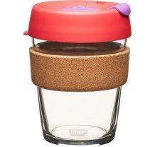 Skleněný Termohrnek KeepCup Brew Filter Cork Medium - červený