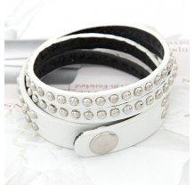 Bílo stříbrný náramek