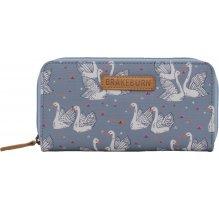 Dámská peněženka s labutěmi Brakeburn Swans - pastelová modrá