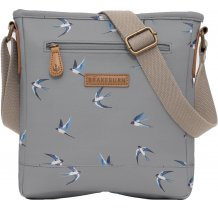 Crossbody kabelka Brakeburn Swallows - šedá