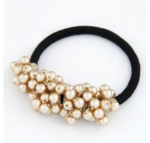 Gumička se zlatými perlami