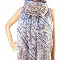 Dámský barevný vzorovaný šátek