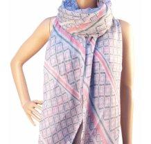 Dámský elegantní šátek vzorovaný barevný