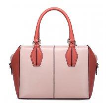 Lososovo oranžová kožená kabelka přes rameno Nucelle Bag