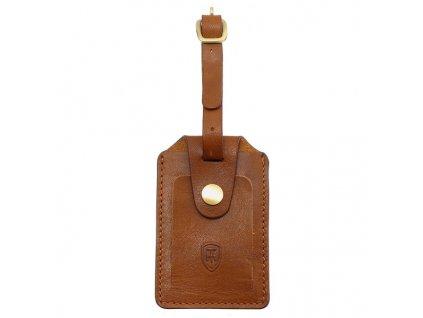 Kožená jmenovka za zavazadlo Tumble & Hide světle hnědá