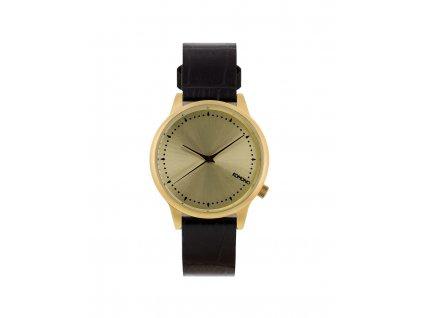 Dámské hodinky černé Komono Estelle Monte Carlo Croc
