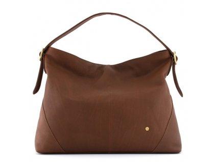 Luxusní kožená kabelka přes rameno Yoshi tmavě hnědá