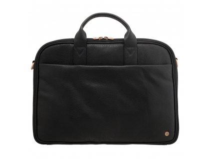 Pánská cestovní kožená business taška 1642 černá