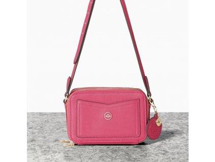 Malá růžová kabelka crossbody NICA - Embose Collection