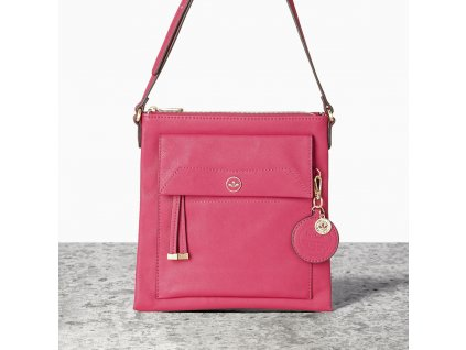 Malá růžová kabelka crossbody NICA - Isabella Collection