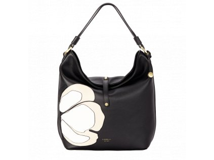 Černá kabelka přes rameno Fiorelli s květinami - Fancy Collection