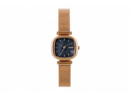 Dámské hodinky zlaté s černým ciferníkem Komono Moneypenny Royale