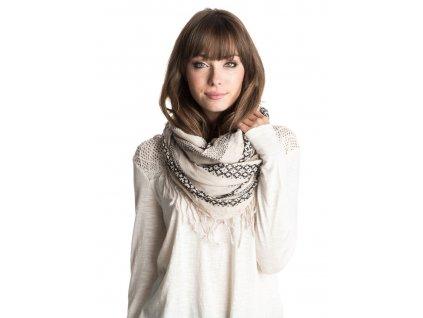 Dámský kruhový šátek Jena Roxy krémový