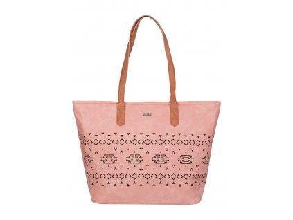 Prostorní taška přes rameno Roxy Now A Days růžová