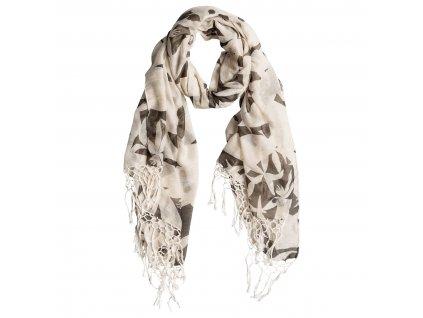 Dámský šátek Giulia Roxy černo bílý