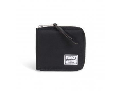 Peněženka na zip Herschel Walt černá lesklá + coin