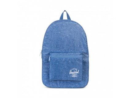 Batoh Herschel skládací modrý s bílými tečkami - speciální edice Daypack