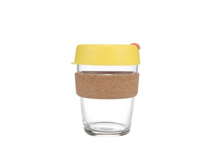 Skleněný Termohrnek KeepCup Brew Saffron Cork Medium - žlutý