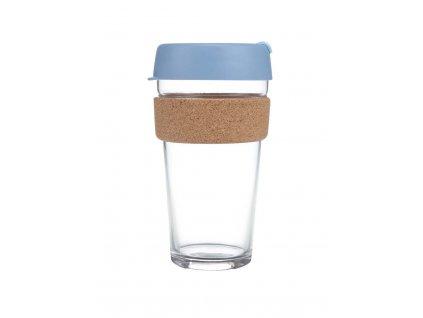 Skleněný Termohrnek KeepCup Rock Salt Cork Large - modrý