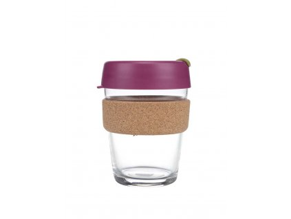 Skleněný Termohrnek KeepCup Cinnamon Cork Medium - fialový