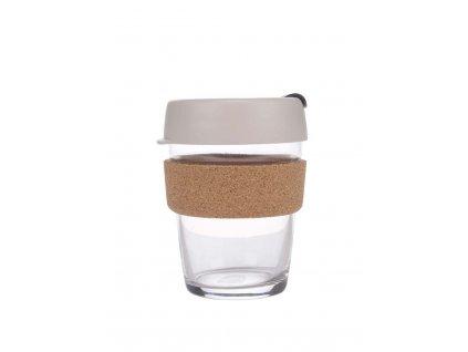 Skleněný Termohrnek KeepCup Brew Filter Cork Medium - šedý