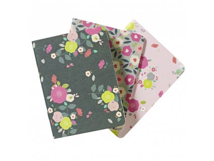 GOMIN401 go stationery pocket notebooks camden floral 3 pack