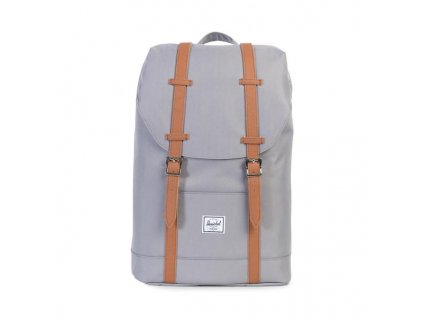batoh herschel retreat medium sedy s hnedymi preskami