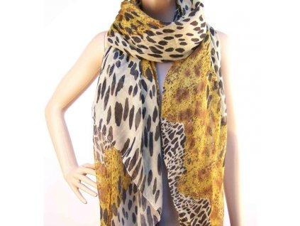 Dámský šátek s leopardím vzorem