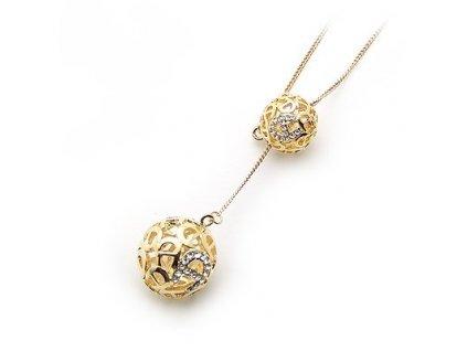 Zlatý kuličkový náhrdelník